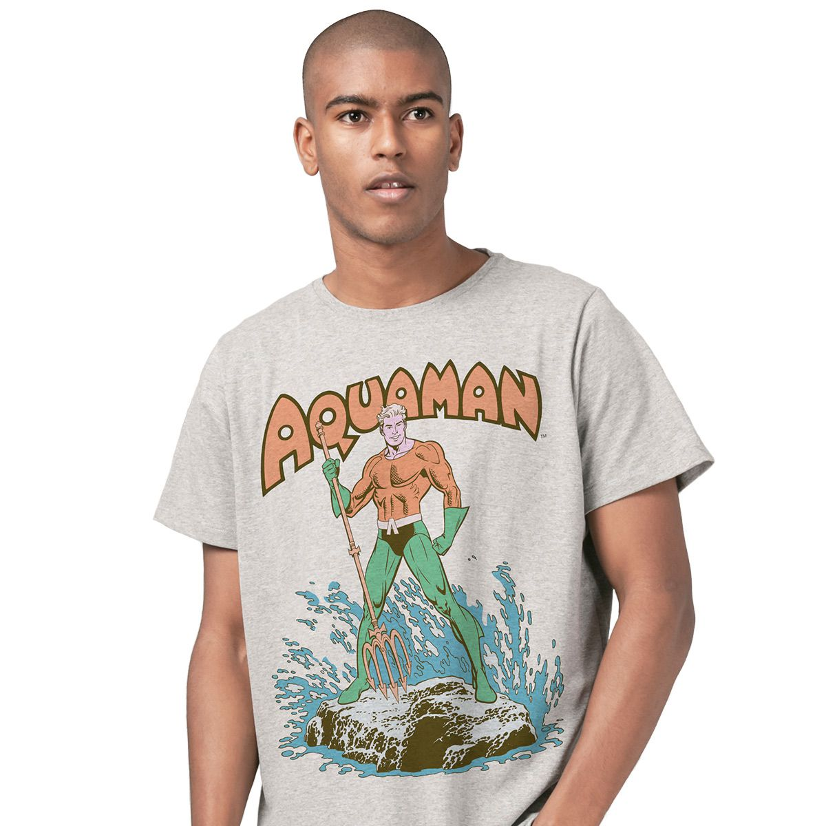 Camiseta Masculina Aquaman Classic Hero  - bandUP Store Marketplace