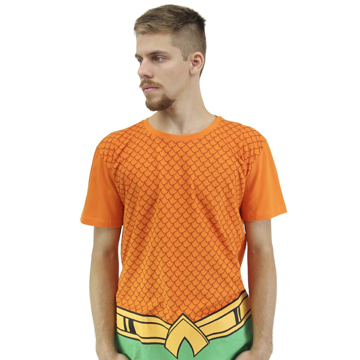 Camiseta Masculina Aquaman Classic Uniform  - bandUP Store Marketplace