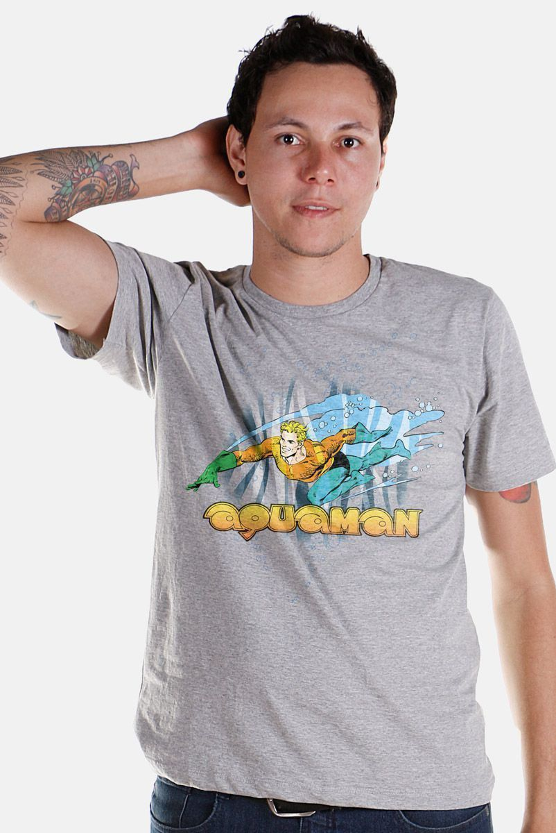Camiseta Masculina Aquaman Force  - bandUP Store Marketplace