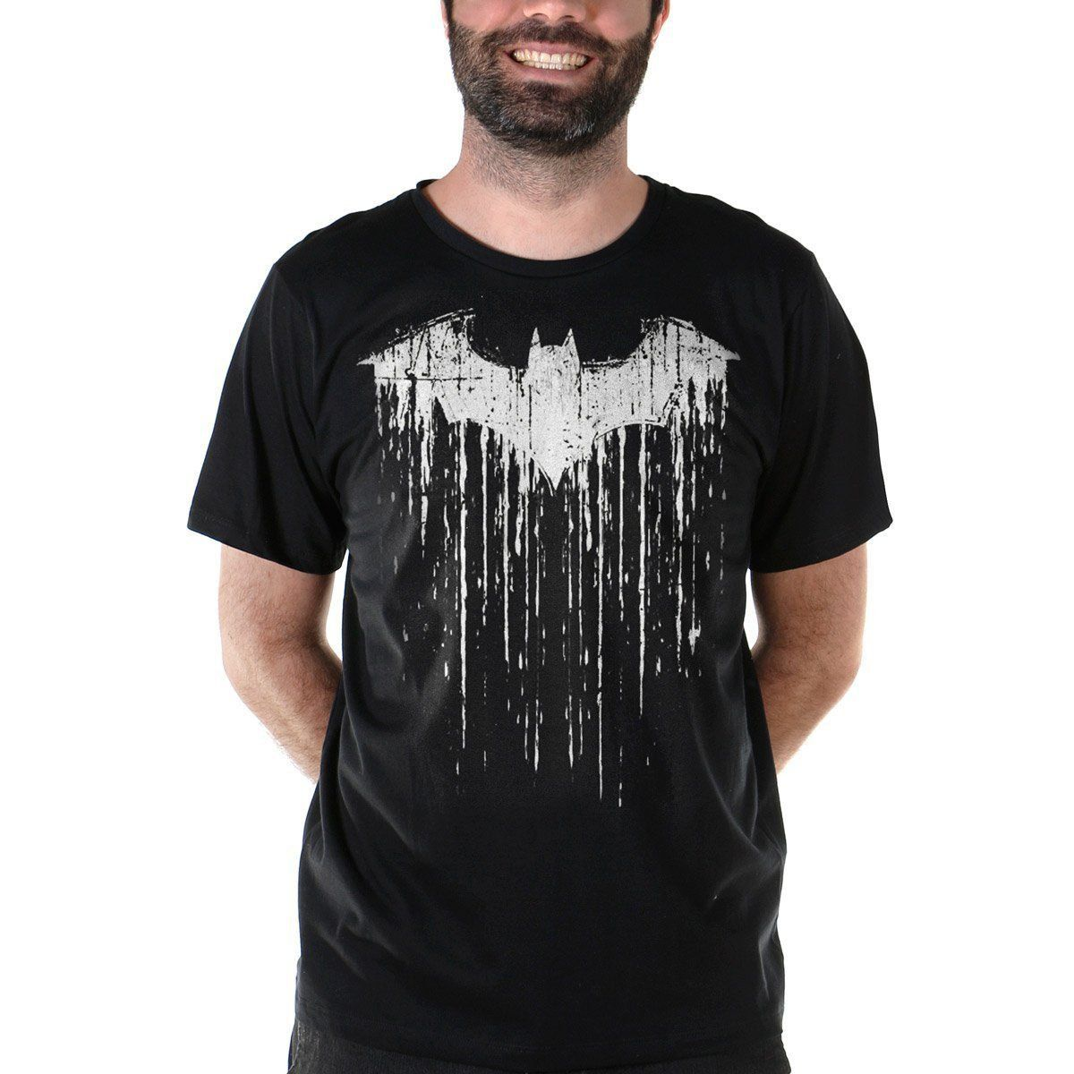 Camiseta Masculina Batman Bat Melting  - bandUP Store Marketplace