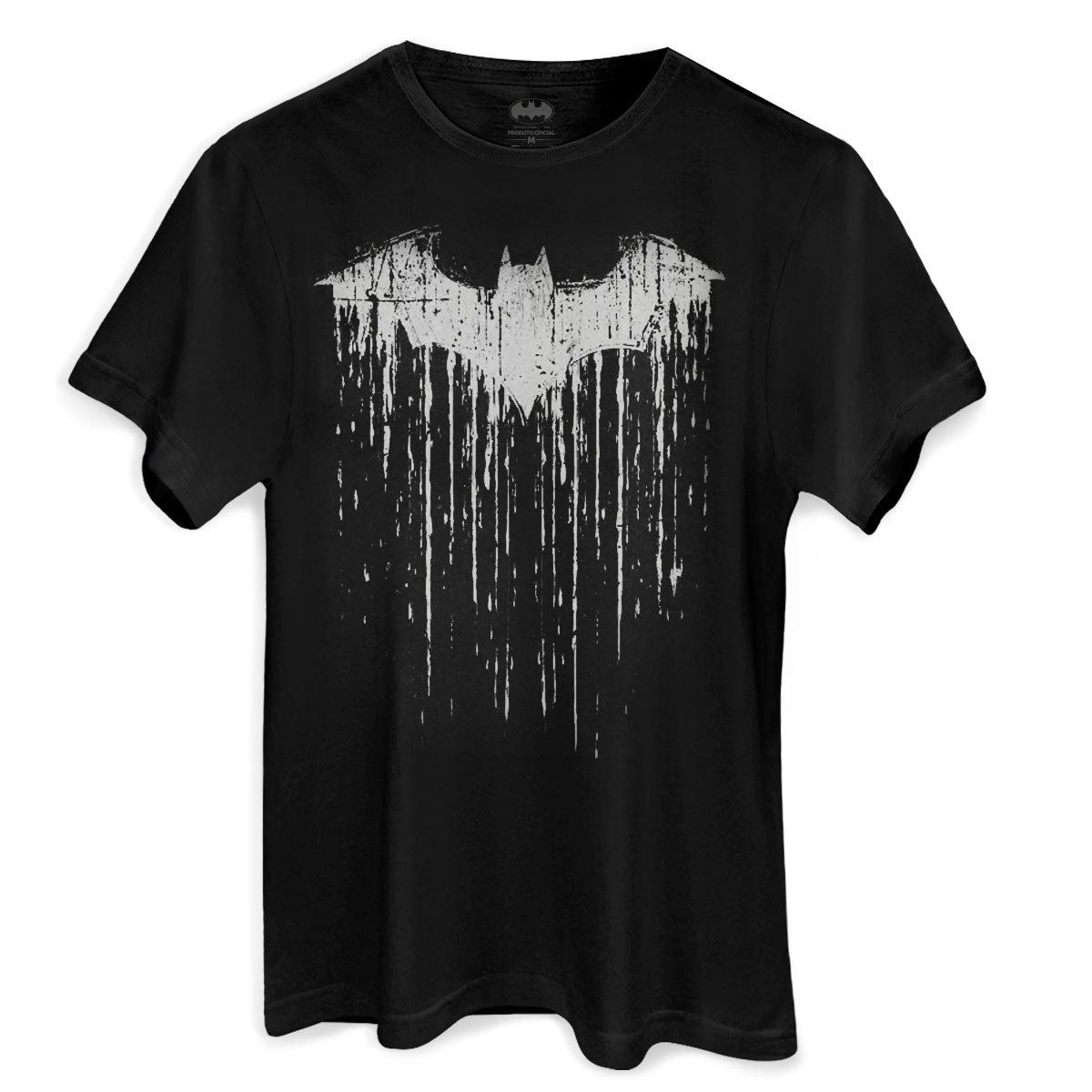 Camiseta Masculina Batman Bat Melting Oficial  - bandUP Store Marketplace