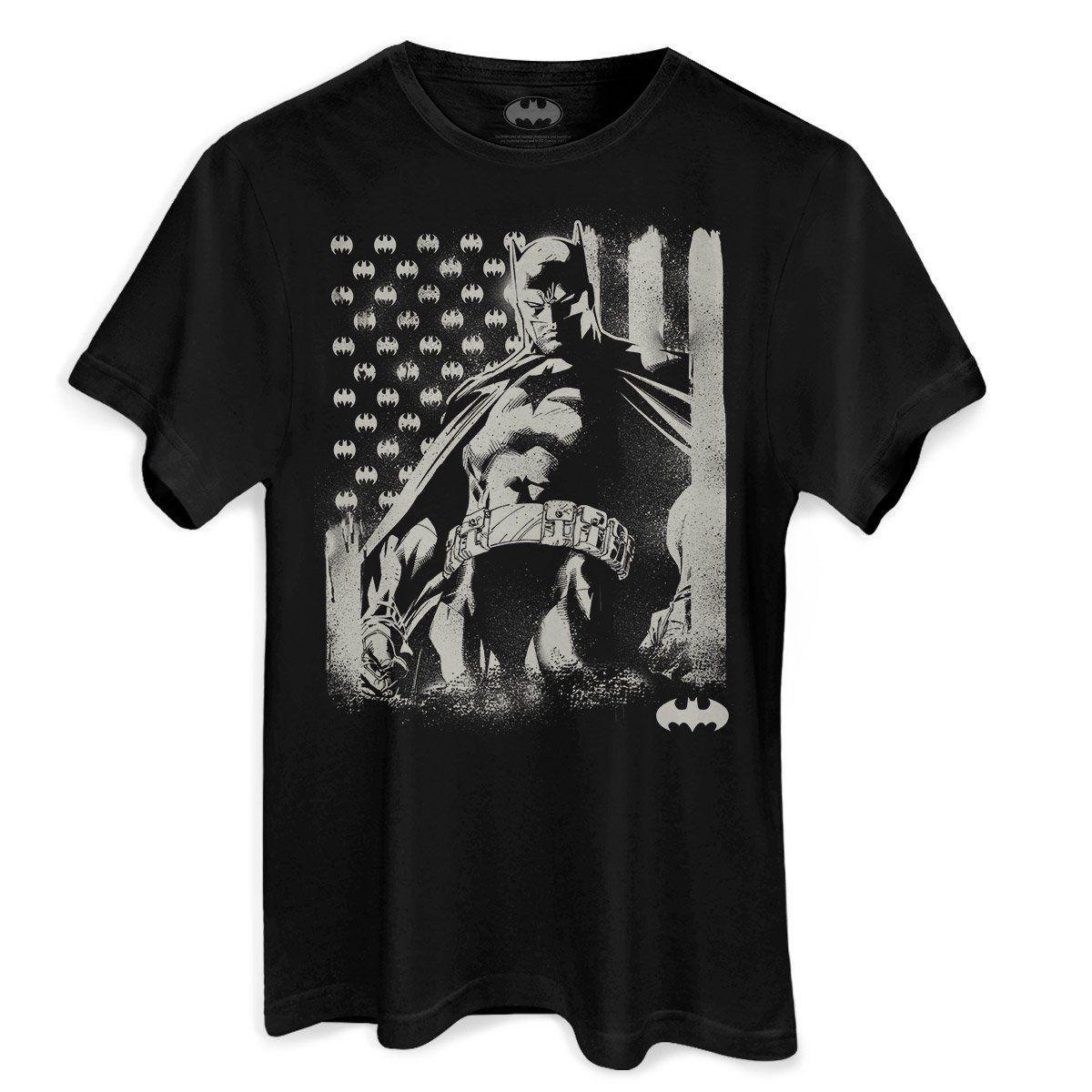 Camiseta Masculina Batman Flag Oficial  - bandUP Store Marketplace