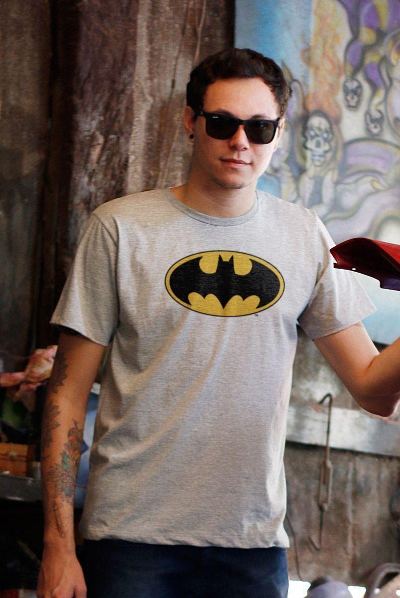 Camiseta Masculina Batman Logo Clássico 2  - bandUP Store Marketplace