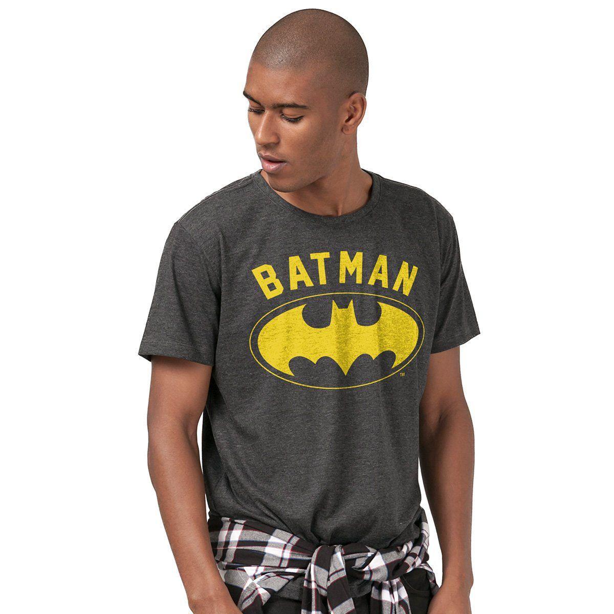 Camiseta Masculina Batman Logo Yellow  - bandUP Store Marketplace