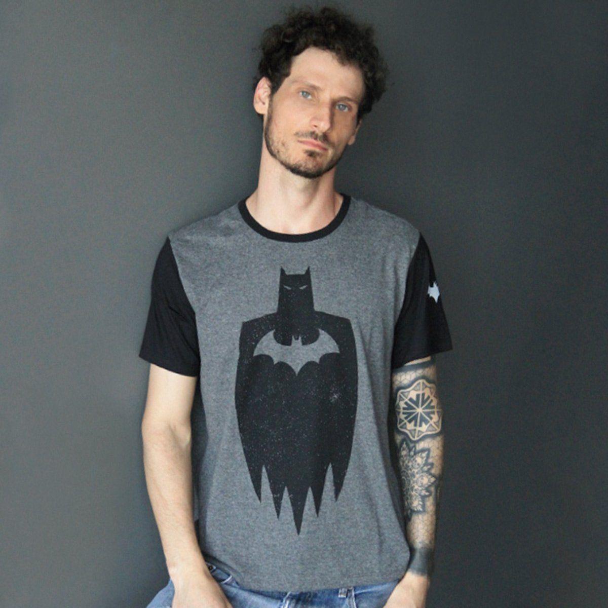 Camiseta Masculina Batman Stencil Oficial  - bandUP Store Marketplace