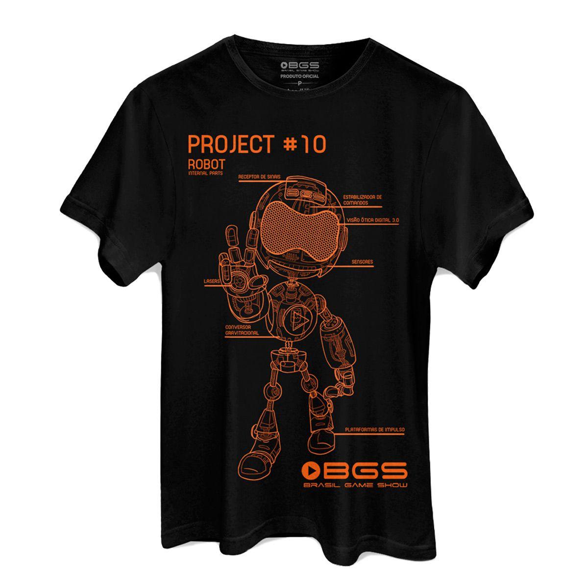 Camiseta Masculina BGS Robot Laranja  - bandUP Store Marketplace