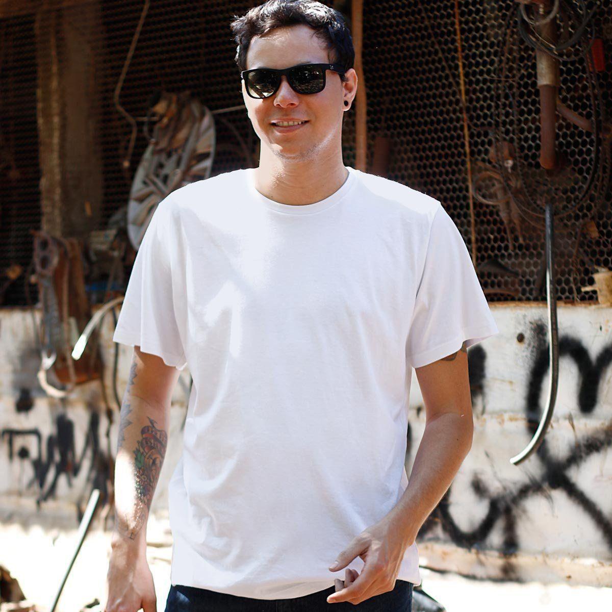 Camiseta Masculina Branca bandUP!  - bandUP Store Marketplace