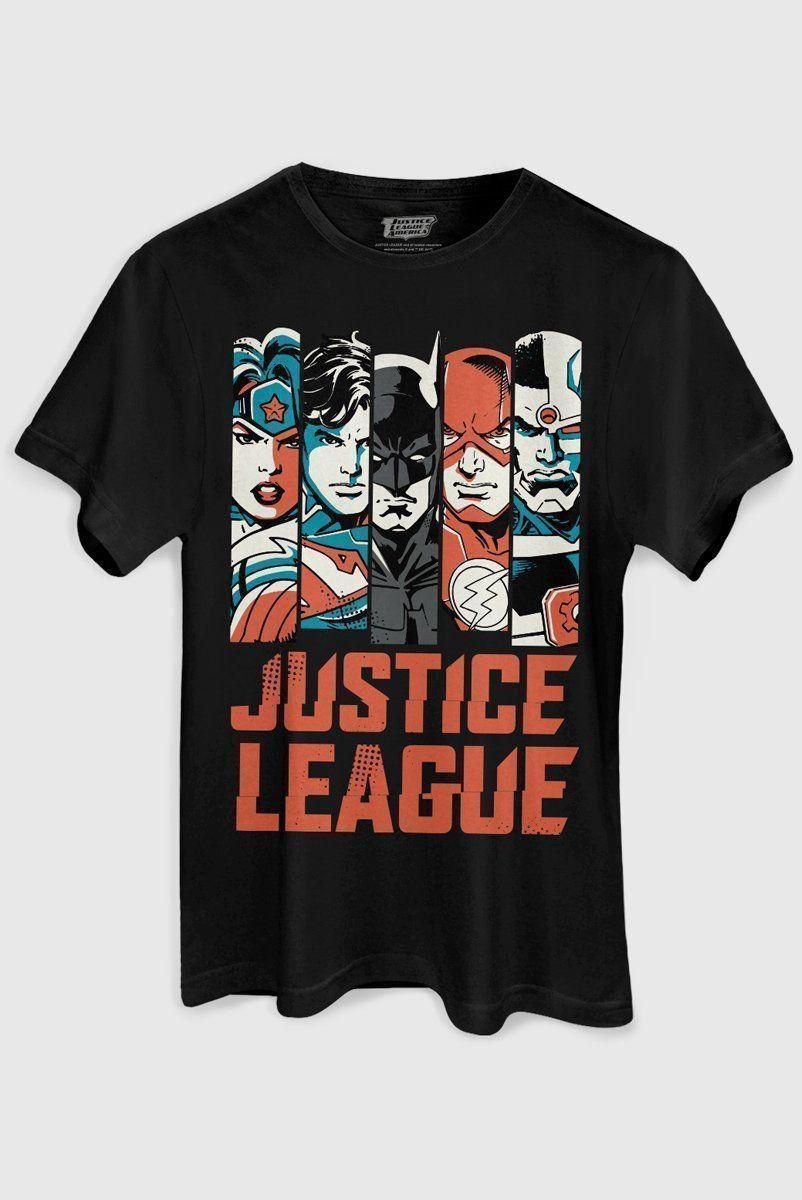 Camiseta Masculina DC Comics Justice League  - bandUP Store Marketplace