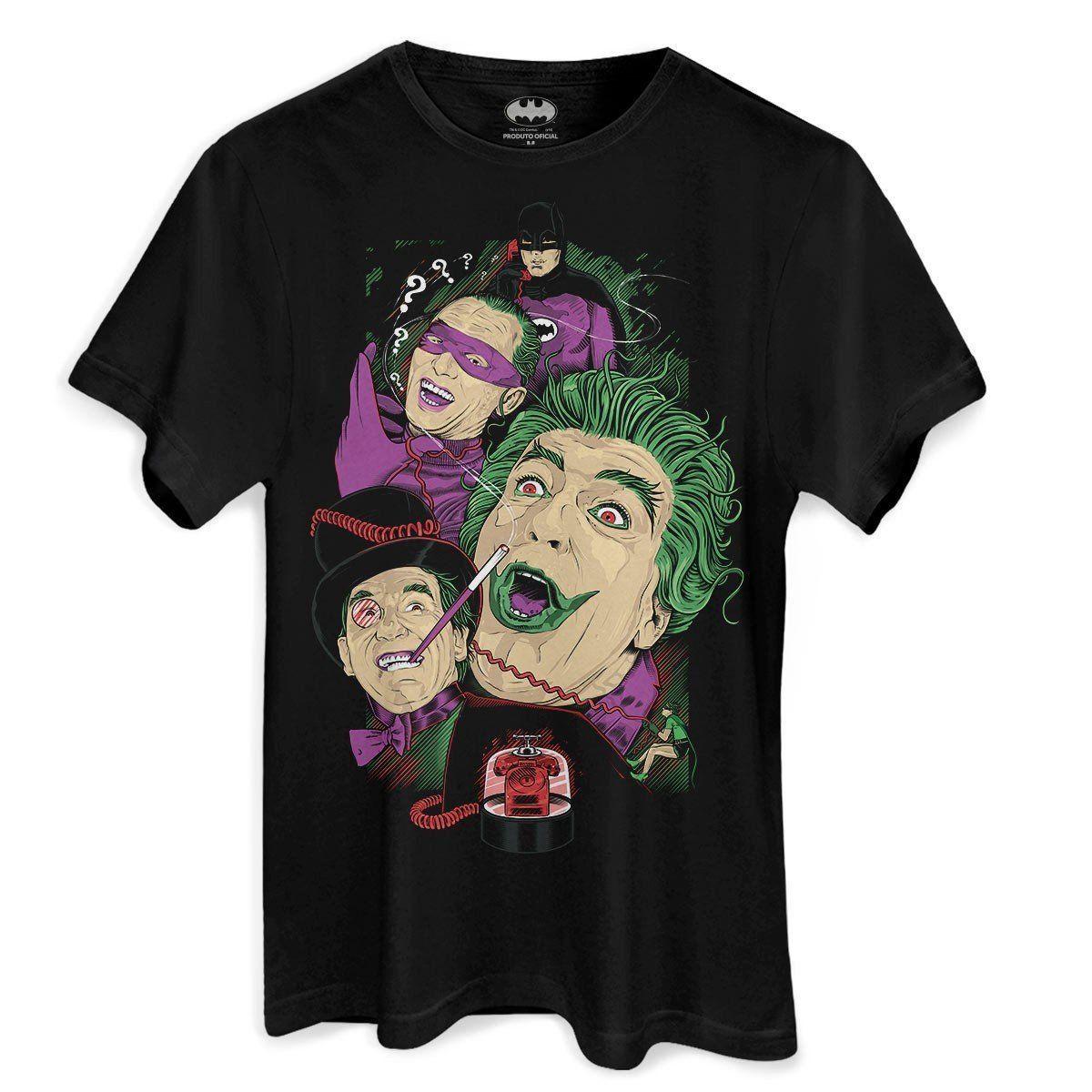 Camiseta Masculina DC Comics Vilões de Gotham City 1966 Oficial  - bandUP Store Marketplace