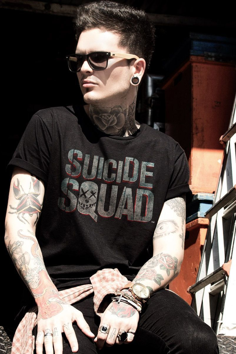 Camiseta Masculina Esquadrão Suicida Logo  - bandUP Store Marketplace