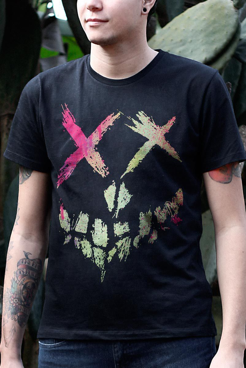 Camiseta Masculina Esquadrão Suicida Skull Logo  - bandUP Store Marketplace
