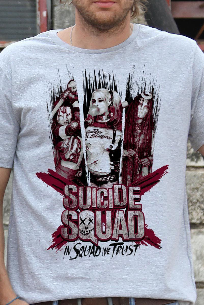 Camiseta Masculina Esquadrão Suicida We Trust  - bandUP Store Marketplace