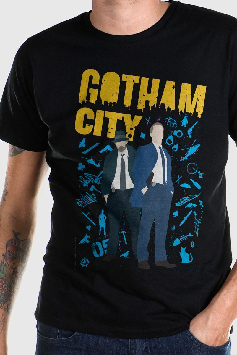 Camiseta Masculina Gotham Detectives  - bandUP Store Marketplace