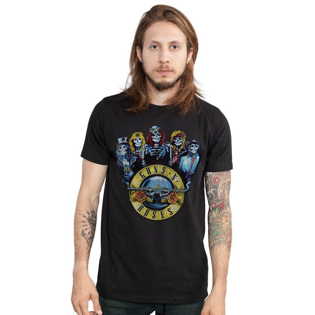 Camiseta Masculina Guns N