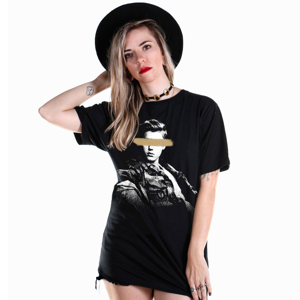Camiseta Masculina Justin Bieber Blocked Eyes  - bandUP Store Marketplace