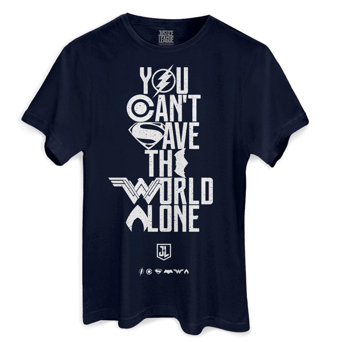 Camiseta Masculina Liga da Justiça You Can