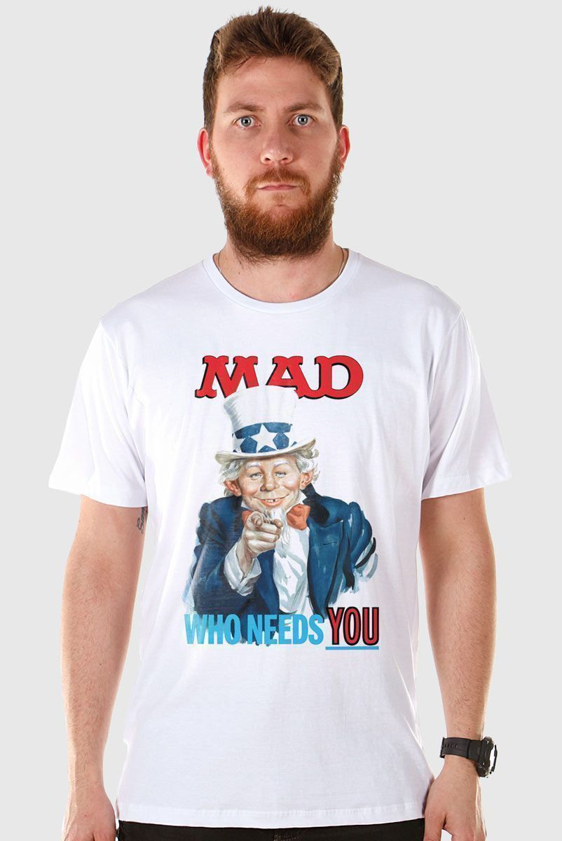 Camiseta Masculina MAD Who Needs You?  - bandUP Store Marketplace