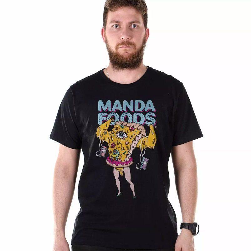 Camiseta Masculina Manda Foods Oficial  - bandUP Store Marketplace