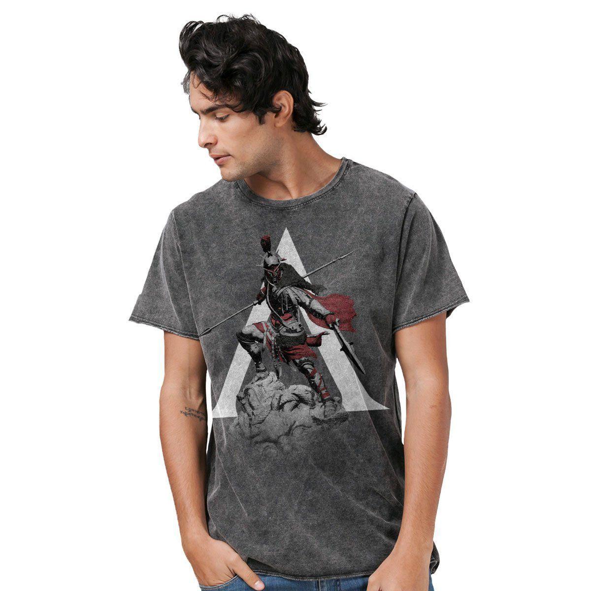 Camiseta Masculina Marmorizada Assassin