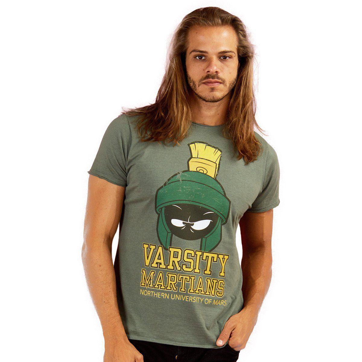 Camiseta Masculina Marvin Varsity Martians  - bandUP Store Marketplace