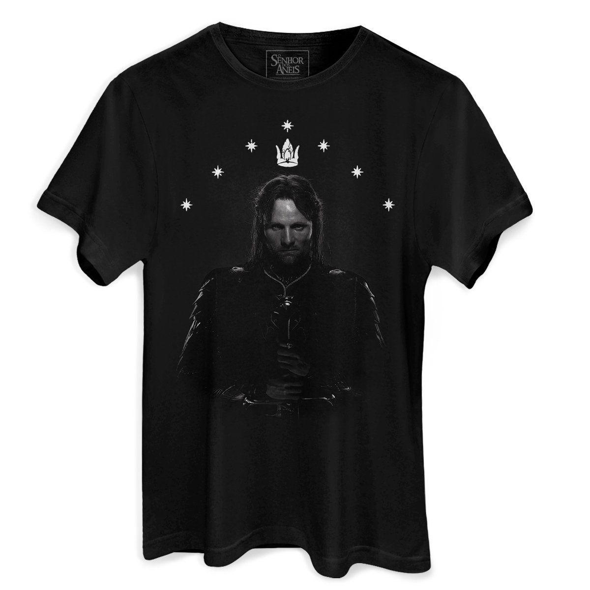 Camiseta Masculina O Senhor dos Anéis Aragorn  - bandUP Store Marketplace