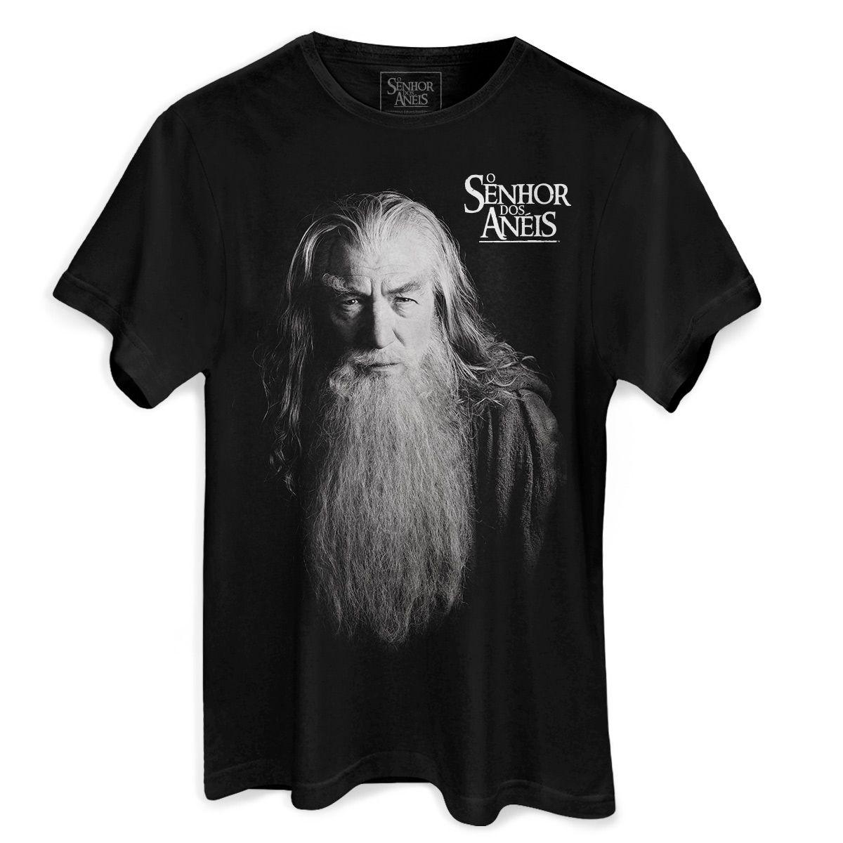 Camiseta Masculina O Senhor dos Anéis Gandalf  - bandUP Store Marketplace