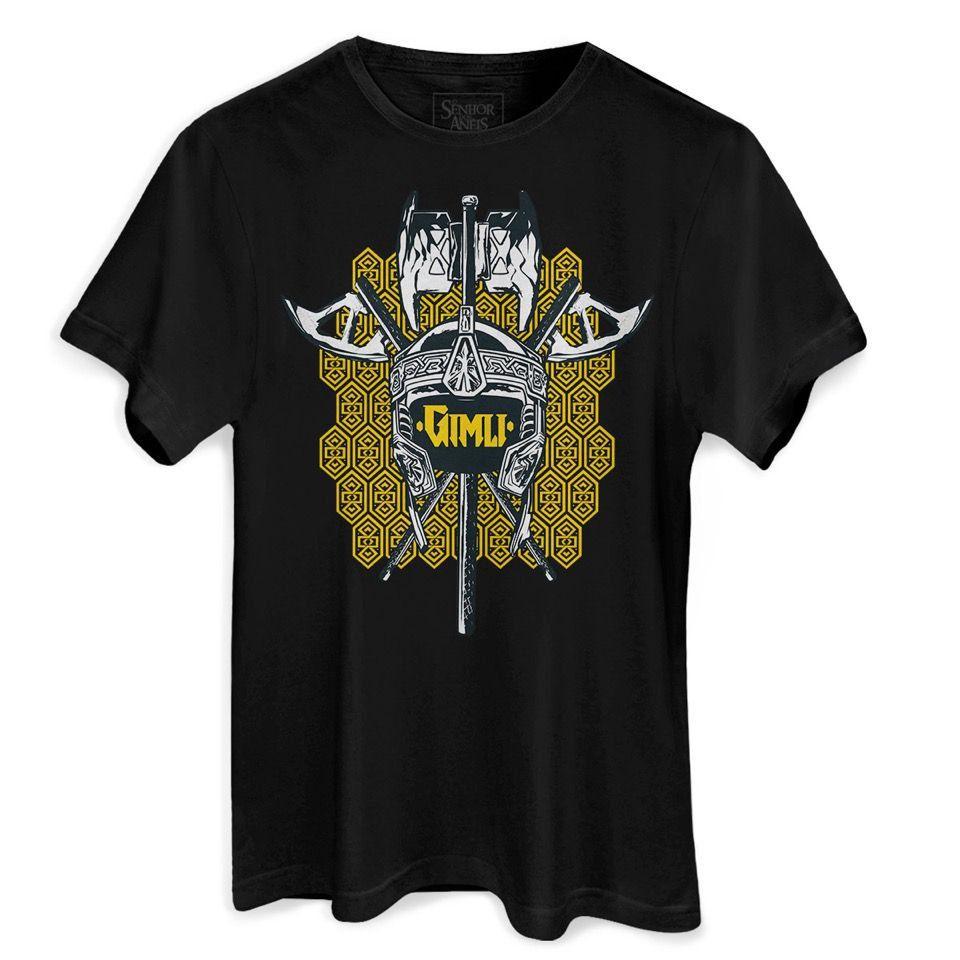 Camiseta Masculina O Senhor dos Anéis Gimli  - bandUP Store Marketplace