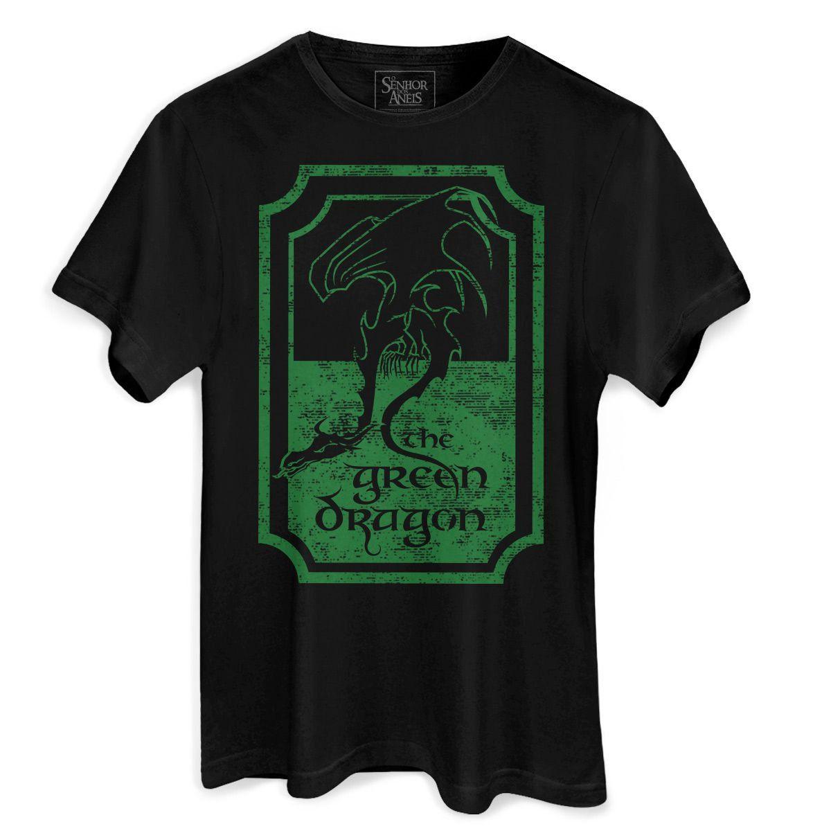 Camiseta Masculina O Senhor dos Anéis The Green Dragon  - bandUP Store Marketplace