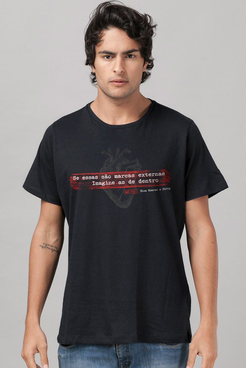 Camiseta Masculina Pitty Na Pele Marcas  - bandUP Store Marketplace