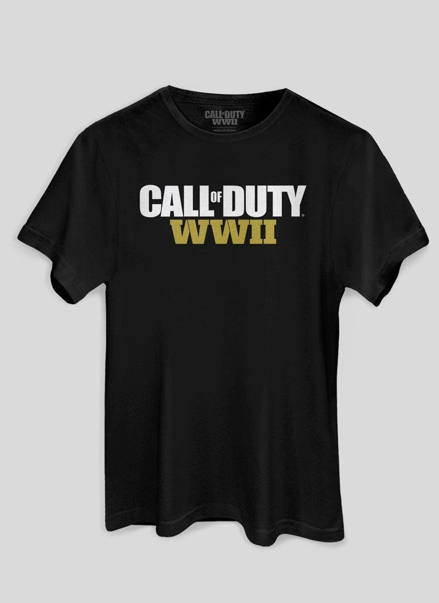 Camiseta Masculina Preta Call of Duty WWII Oficial  - bandUP Store Marketplace