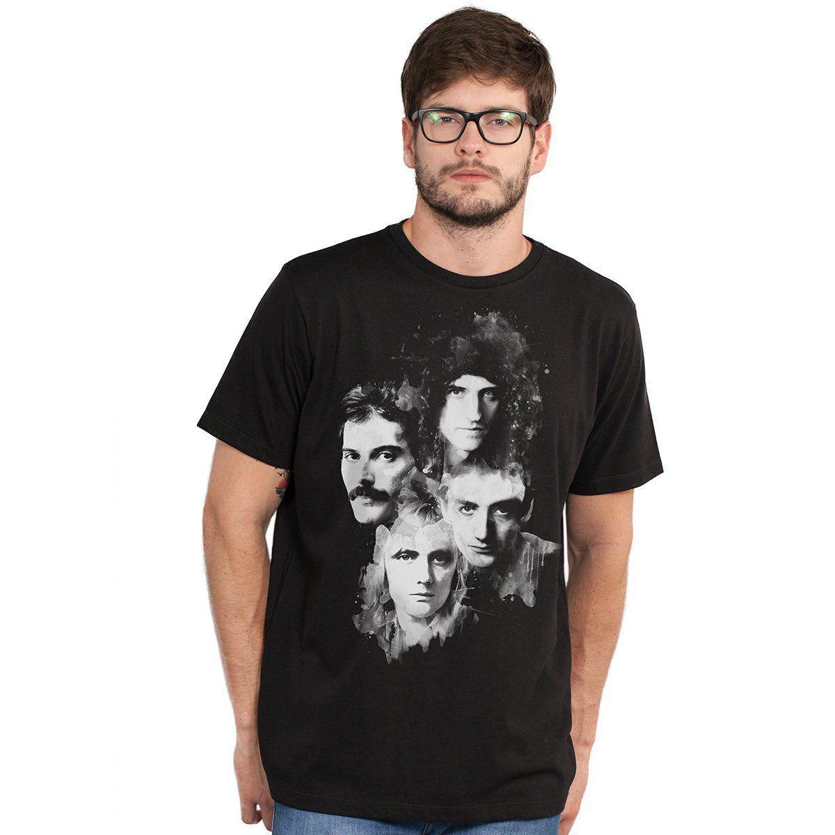 Camiseta Masculina Queen Faces  - bandUP Store Marketplace