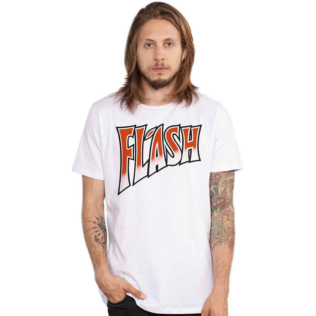 Camiseta Masculina Queen Flash  - bandUP Store Marketplace