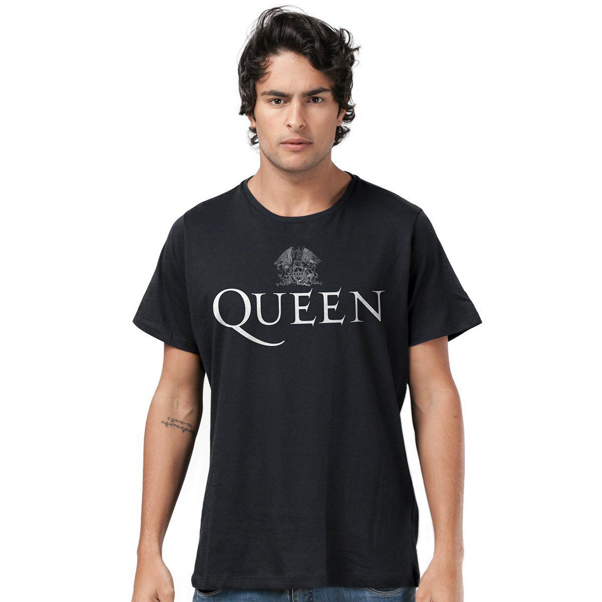 Camiseta Masculina Queen Logo Black  - bandUP Store Marketplace