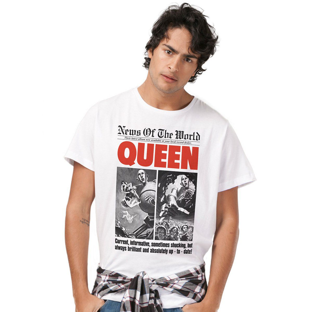 Camiseta Masculina Queen News of The World  - bandUP Store Marketplace