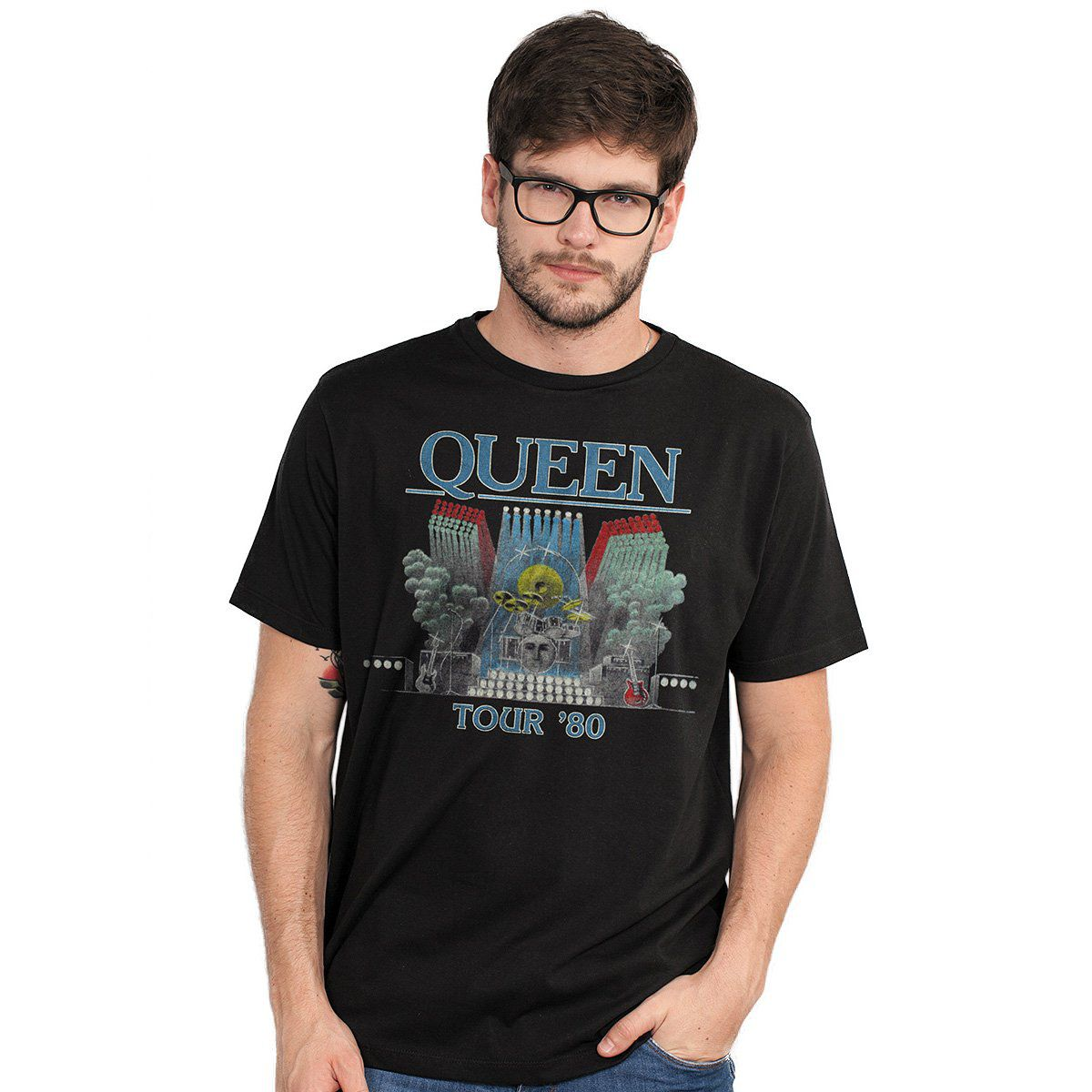 Camiseta Masculina Queen Tour 80