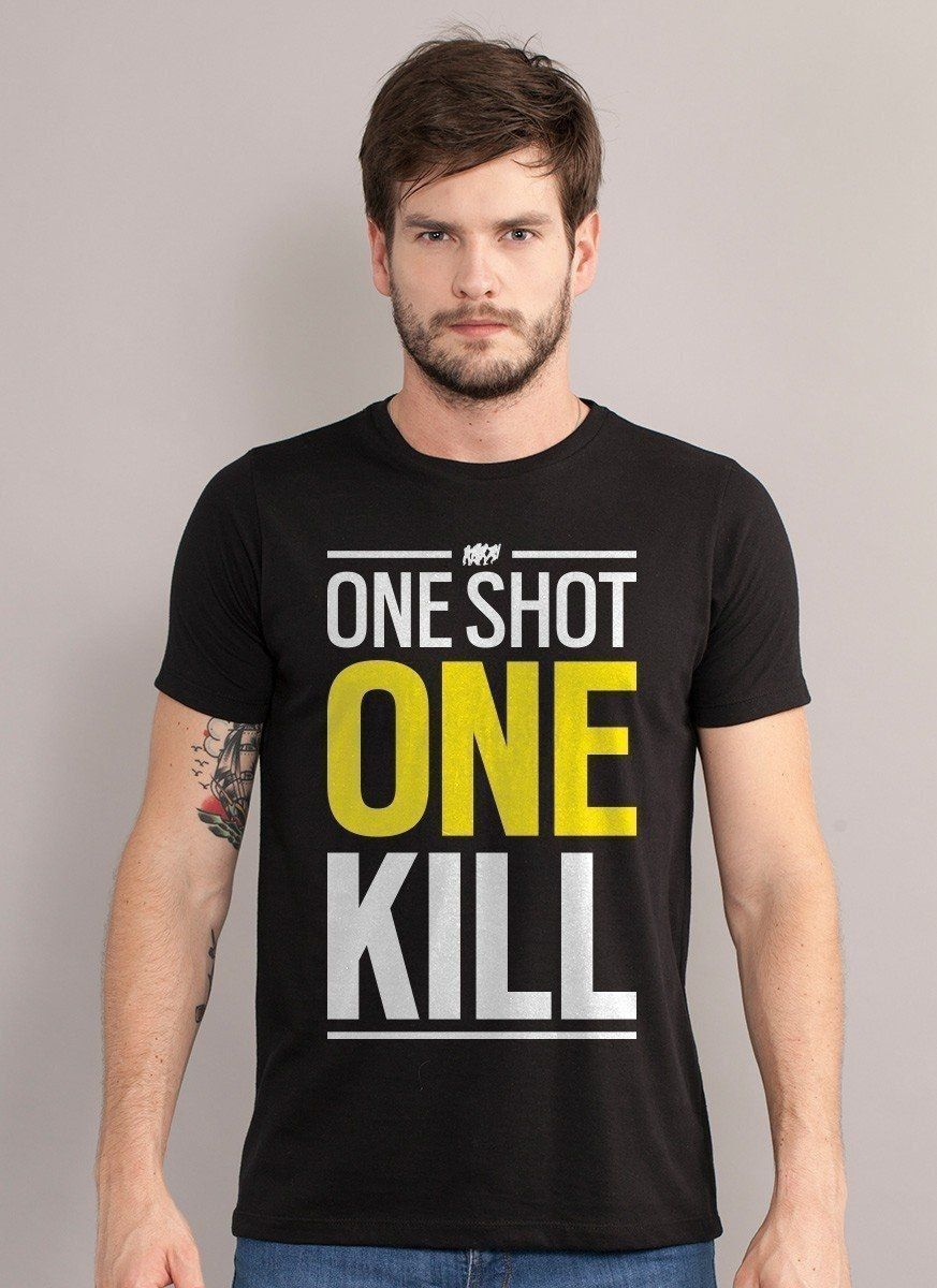 Camiseta Masculina Rainbow 6 One Shot One Kill  - bandUP Store Marketplace