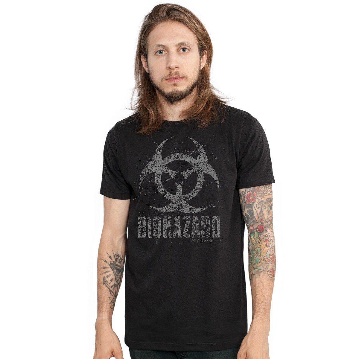Camiseta Masculina Resident Evil Biohazard Oficial  - bandUP Store Marketplace