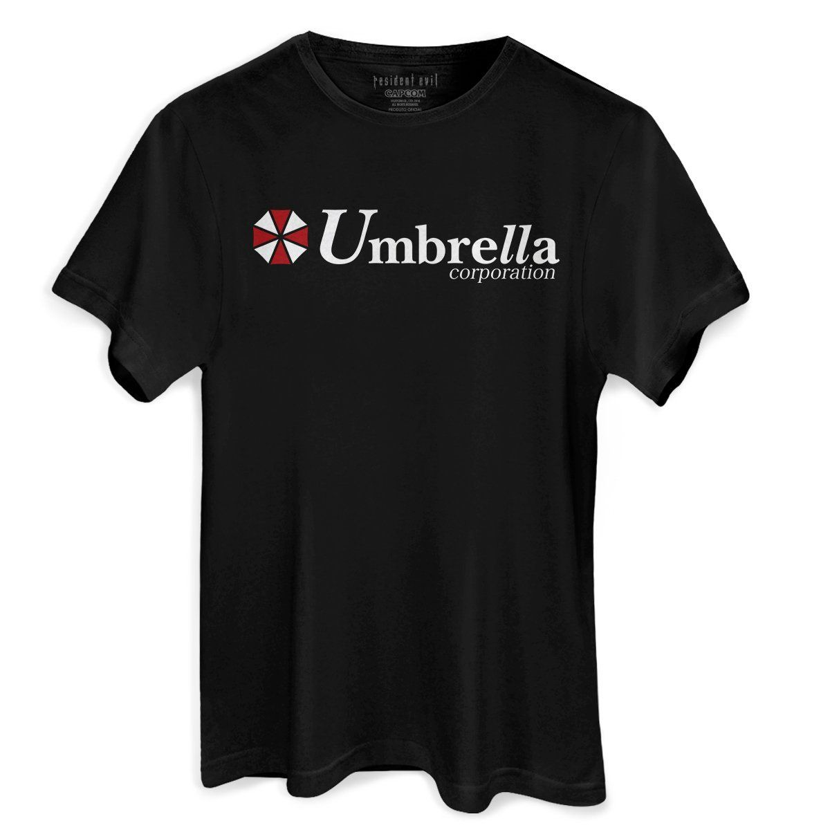 Camiseta Masculina Resident Evil Umbrella Corporation Oficial  - bandUP Store Marketplace