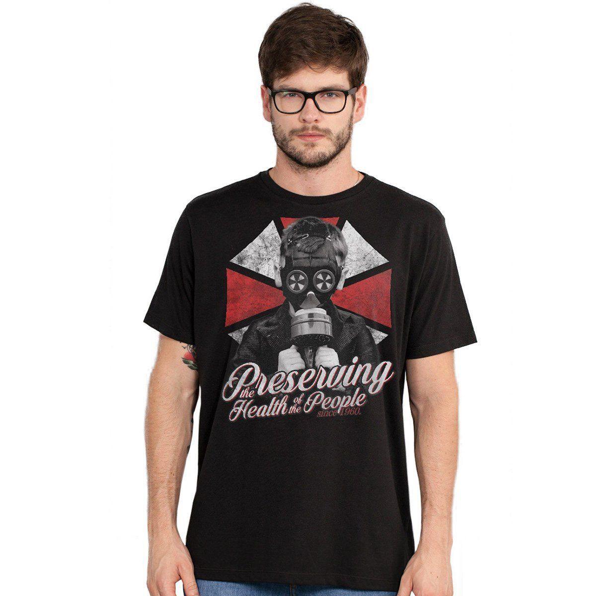 Camiseta Masculina Resident Evil Umbrella Kid  - bandUP Store Marketplace