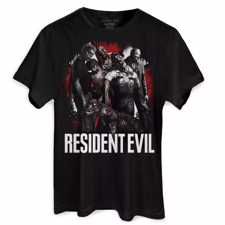 Camiseta Masculina Resident Evil Zombies Oficial  - bandUP Store Marketplace