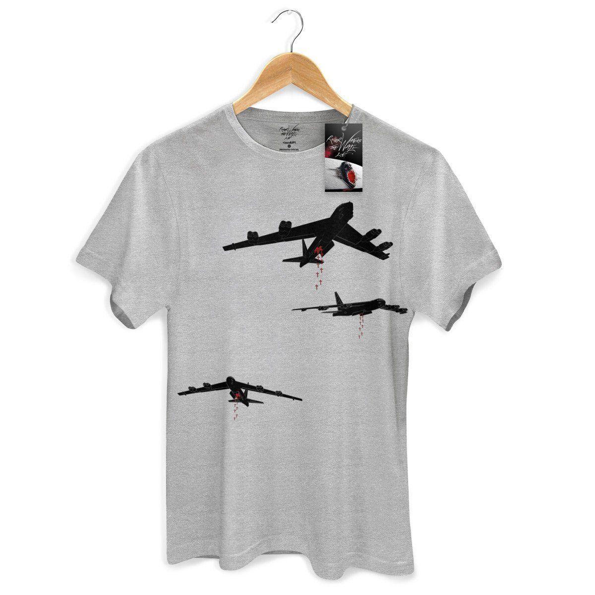 Camiseta Masculina Roger Waters Bombas  - bandUP Store Marketplace