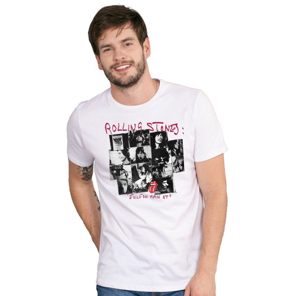Camiseta Masculina The Rolling Stones Exile on Main St Oficial - bandUP Store Marketplace