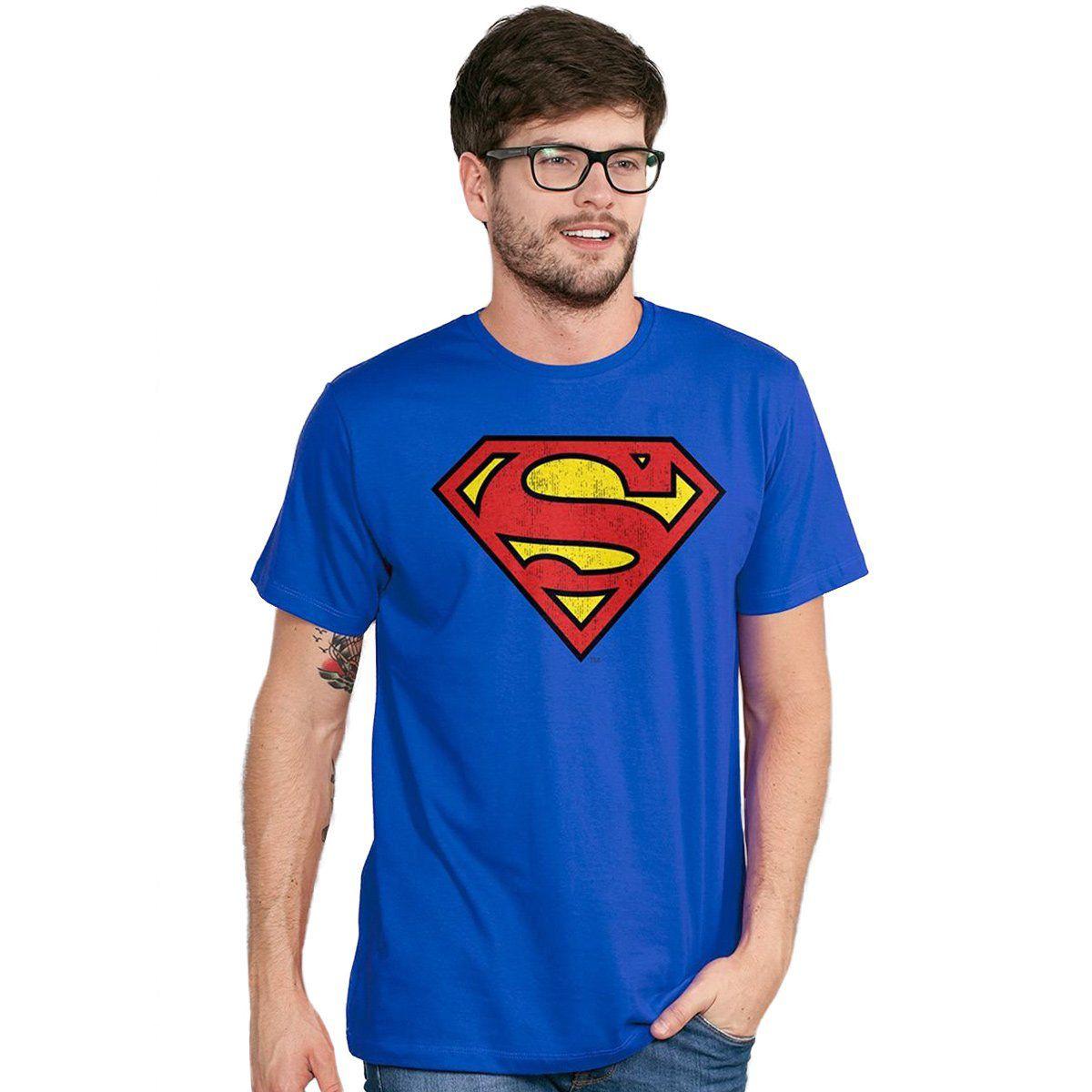 Camiseta Masculina Superman Logo Oficial  - bandUP Store Marketplace