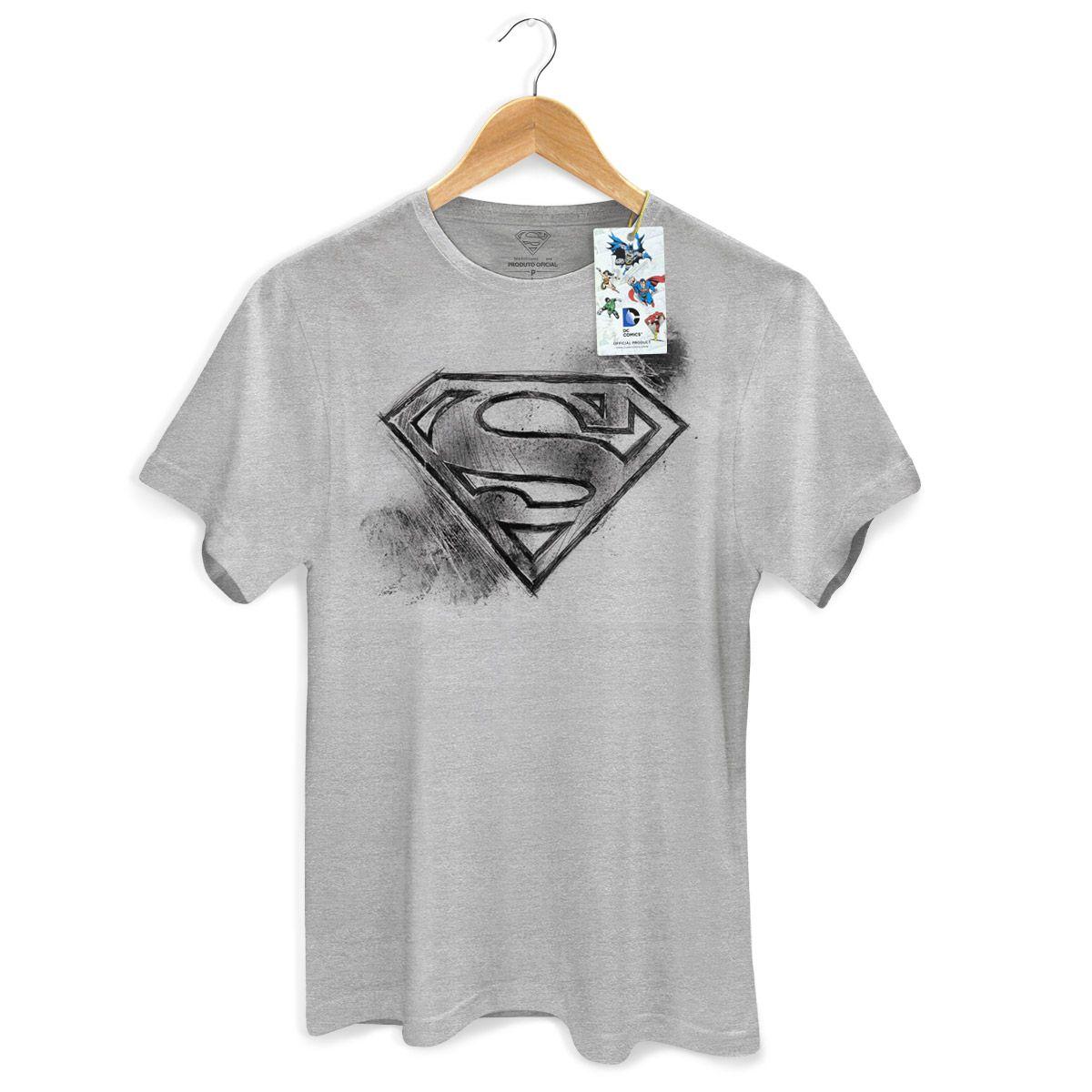 Camiseta Masculina Superman Logo Tracing  - bandUP Store Marketplace