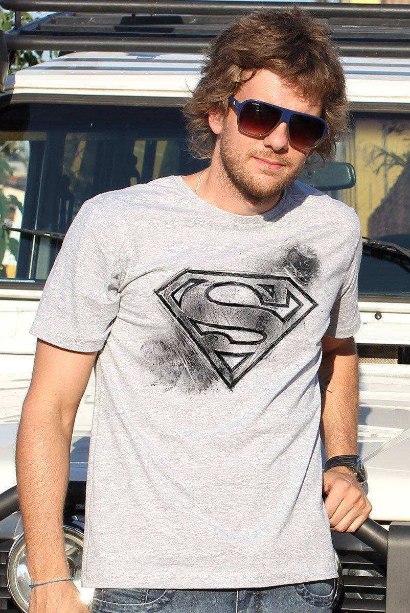 Camiseta Masculina Superman Logo Tracing  - bandUP Store Marketplace