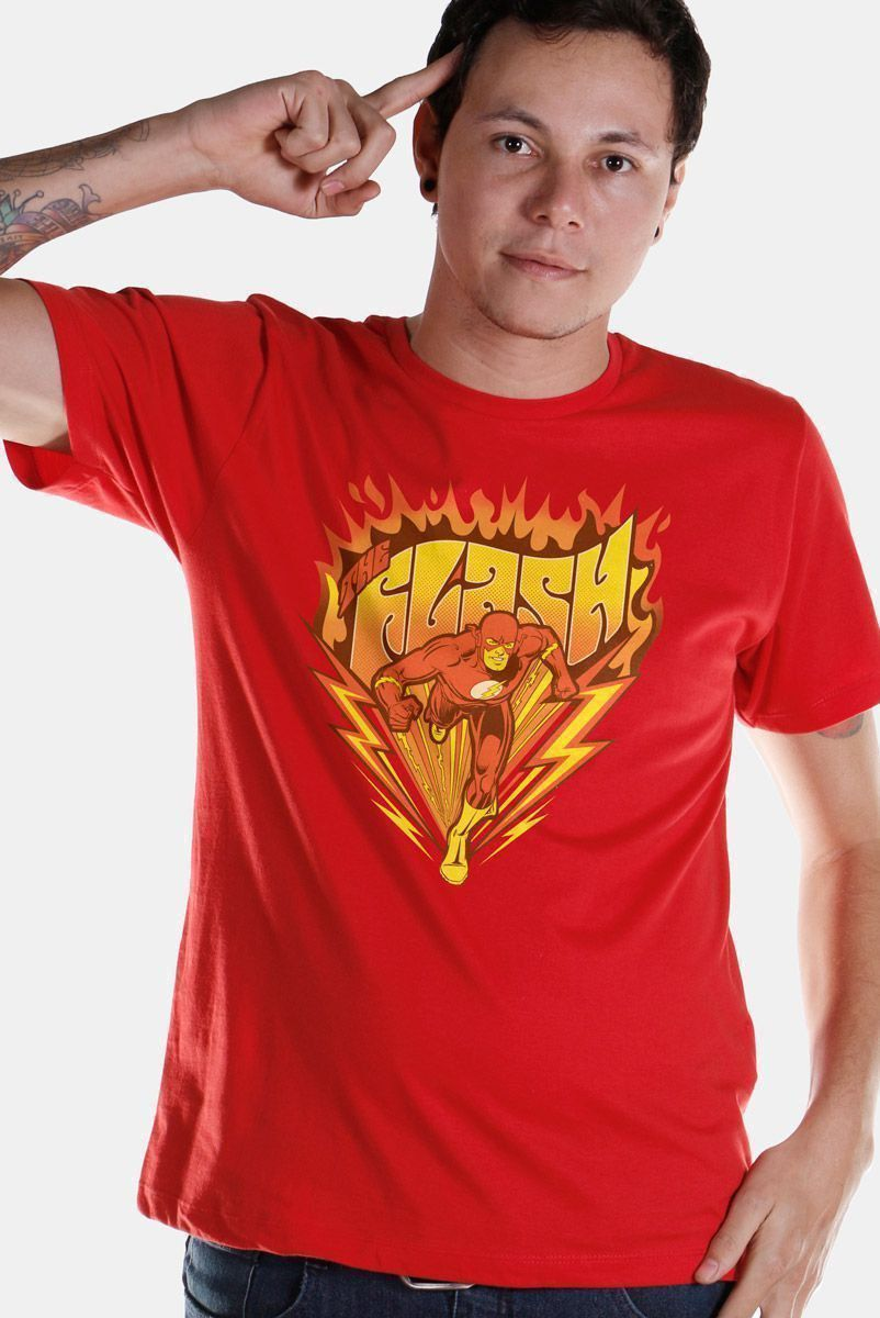 Camiseta Masculina The Flash Fire  - bandUP Store Marketplace