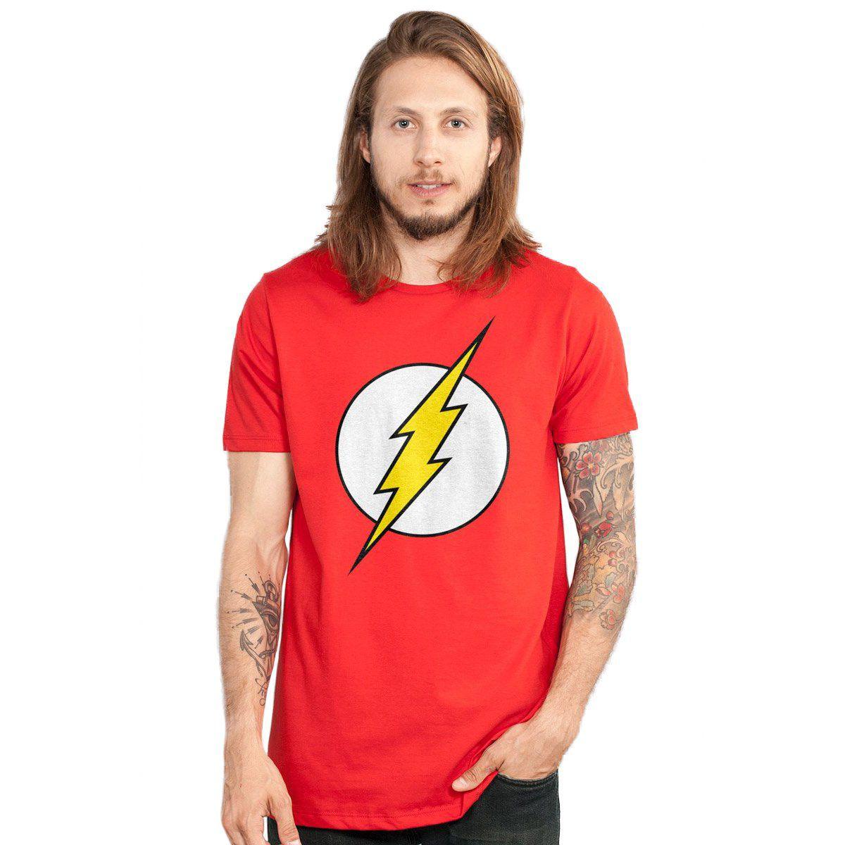 Camiseta Masculina The Flash Logo  - bandUP Store Marketplace