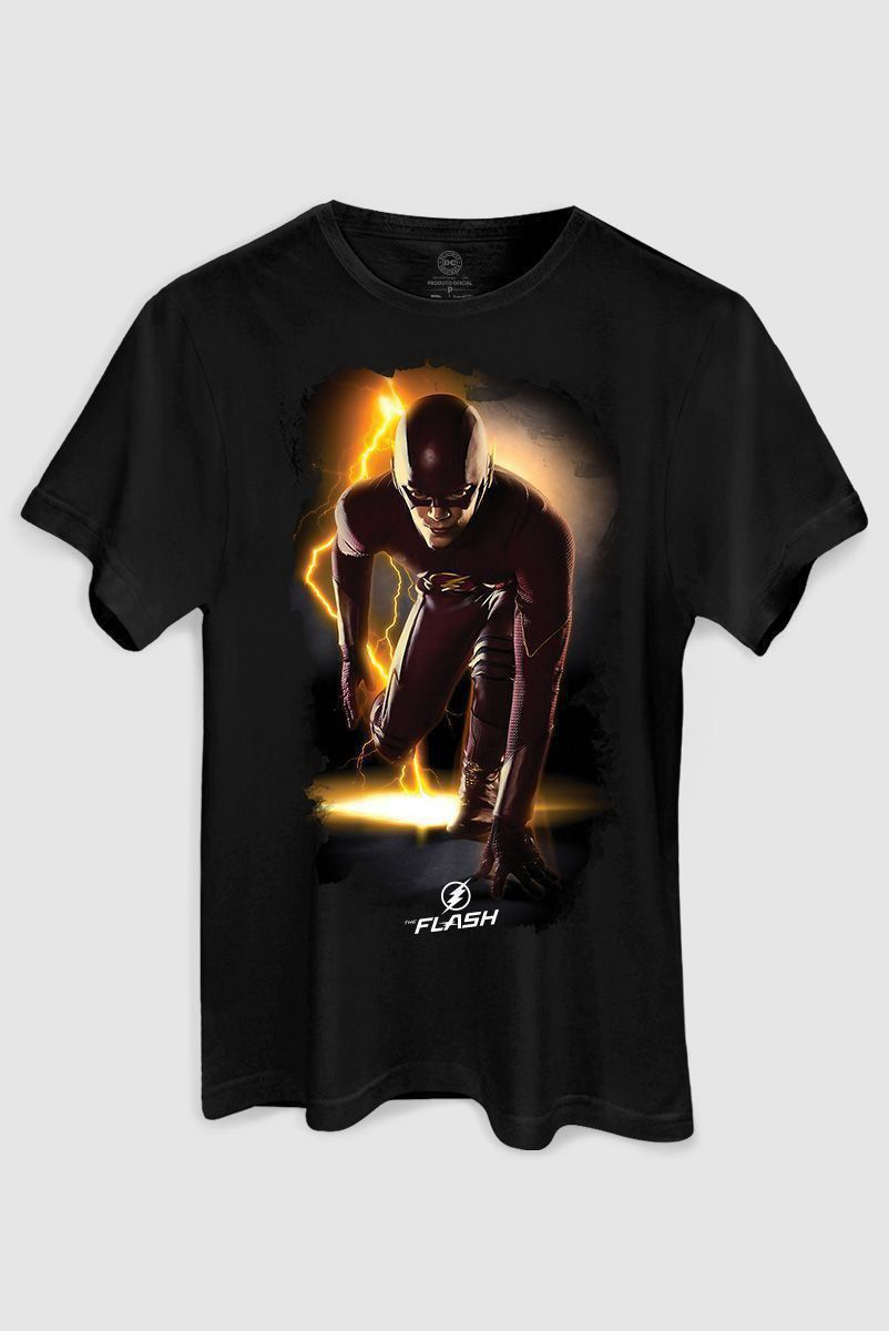 Camiseta Masculina The Flash Serie In Action  - bandUP Store Marketplace