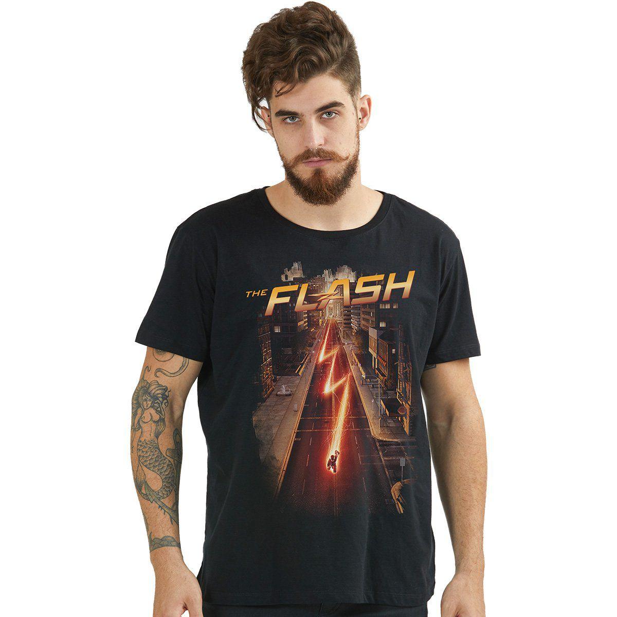 Camiseta Masculina The Flash Serie Speed  - bandUP Store Marketplace