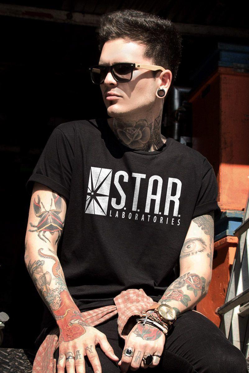 Camiseta Masculina The Flash Serie STAR Laboratories  - bandUP Store Marketplace